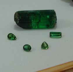 Gem green elbaite
