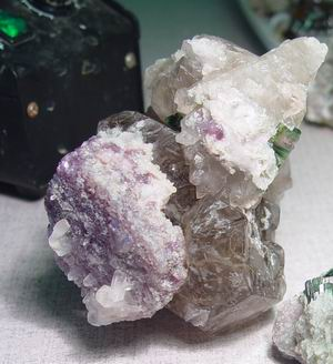 smoky with lepidolite