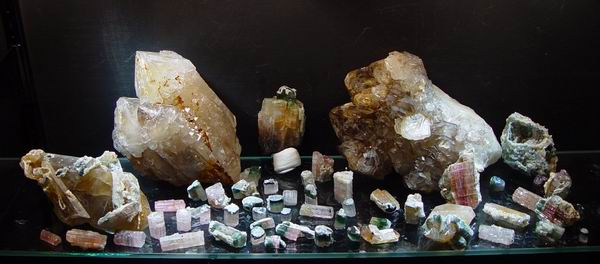 A collection of elbaite from the 2nd day