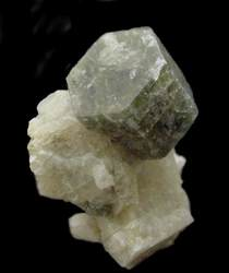 Apatite on Albite